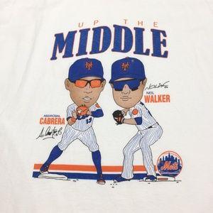 NY Mets Neil Walker Asdrubal Cabrera Caricature